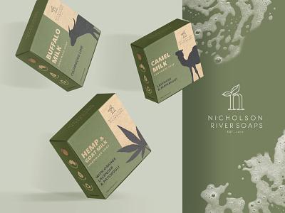Nicholson River Soaps Packaging branding product packaging packaging packaging design soapbox soap handmade