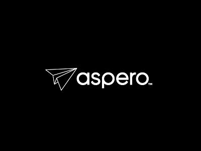 Aspero Logo Design logo mark icon typography plane logo design australia vector illustration branding logo