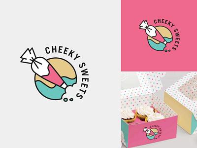 Cheeky Sweets logo v3 australian baking vector symbol cookies brand identity logo icon cakes