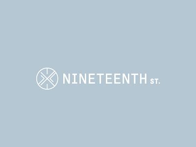 Nineteenth St. Logo v2 australia logo mark symbol monogram typogaphy streetwear clothing