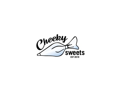 Cheeky Sweets Logo Final logo logotype typogaphy symbol brand identity australia cake shop piping bag cupcakes cakes
