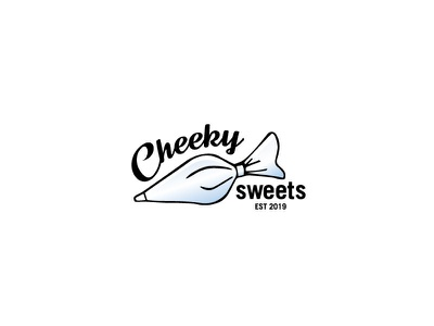 Cheeky Sweets Logo Final logo logotype typogaphy symbol brand identity australia cake shop piping bag cupcakes cakes