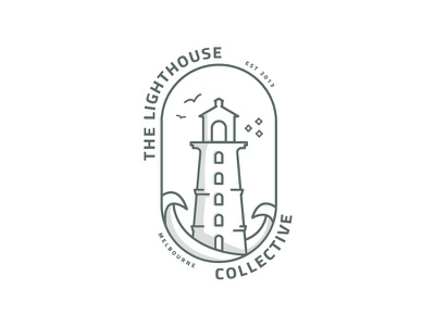 The Lighthouse Collective - Alt australia vector art illustration graphics branding beach icon design symbol logo coastal lighthouse