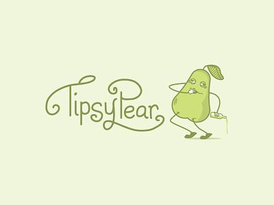 Tipsy Pear vector branding vintage font character design cider icon australia design logo illustration handlettering