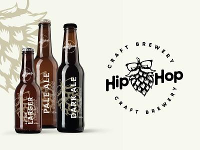 Hip Hop Bottles brand design typography australia branding craft beer beer branding