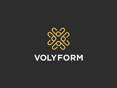 Volyform brand symbol icon adobe vector activeware logomark