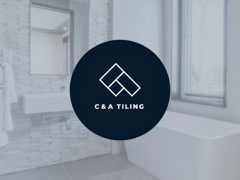 C & A Tiling monogram australia strategy brand icon monogram design logo
