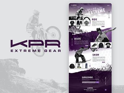 KPR - logo & landing page shop adventure store adrenaline clothing fun lifestyle outdoors extreme sports web design logo brand branding landing page