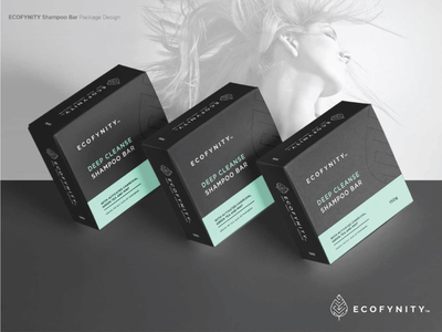 ECOFYNITY package design box soap natural organic cruelty free sustainable vegan packaging simple simplistic