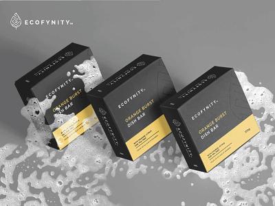 ECOFYNITY Packaging 2 logo design store package design brand design natural organic vegan soap