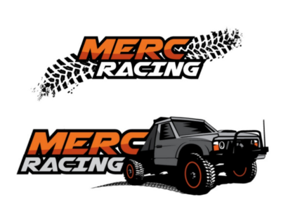 MERC Racing Team Logo mud 4wd 4x4 sport illustration australian brand development logo design adventure extreme sports