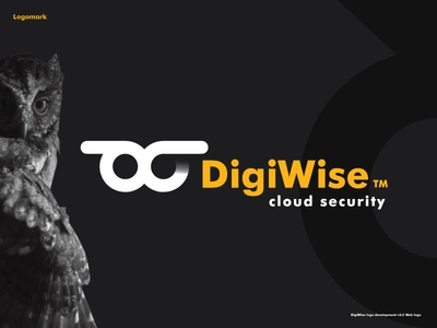DigiWise Brand Development monogram owl cloud hosting home security brand development brand design logo logotype security app security cloud