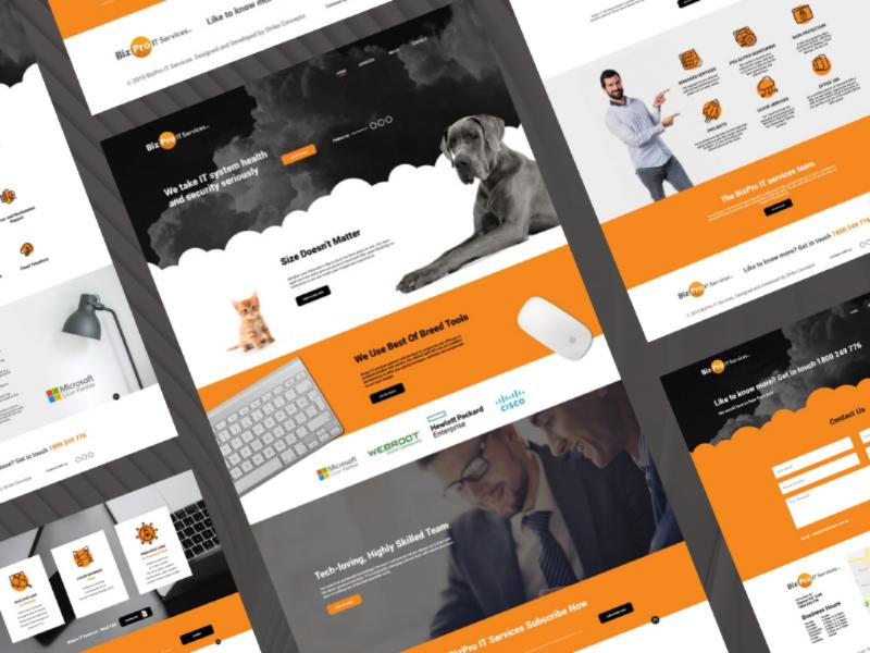 BizPro IT 2020 Web design 2020 australian analysis cloud it rebrand logo design icon ui ux brand strategy branding web design