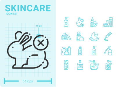 Skincare Icon Set outline minimal ui flat design illustration graphic vector icon icons