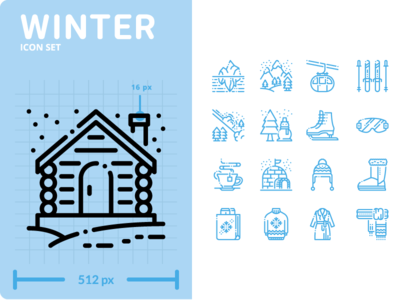 Winter Icon Set winter outline minimal flat ui design illustration graphic icon vector icons