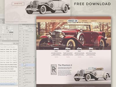 Free Vintage Car Template vintage car template free car website template psd free freebie