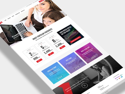 Home Page for ISP ux ui package internet isp home page interface