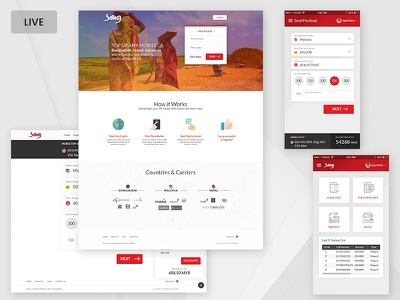 Financial Web & App financial app financial web ux ui