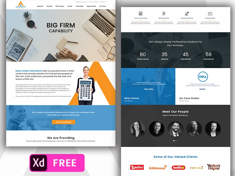 free accounting website template by creativegeek dribbble dribbble
