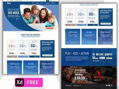 Free Internet Services Provider Pantone 2020 Classic Blue Color internet services provider isp websites freebie xd freebies free pantone 2020 pantone