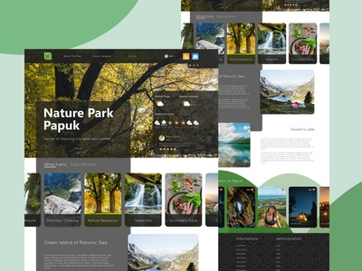 Nature Park human centered userinterface sensory design branding nature branding ux strategy content strategy colorful green color content functionality user uxdesign uidesign ux ui design information architecture ux ui park nature nature park