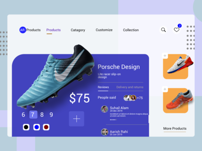 Shoes Store Product page