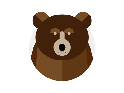 Baby Bear minimal illustration bear
