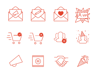 Newsletter Line Icons email vip success icons newsletter