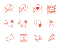Newsletter Line Icons