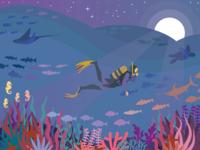 Midnight Dive 🐋