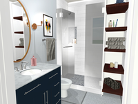 3D bathroom render for client