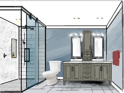 Design for friends master bathroom