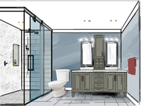 Design for friends master bathroom