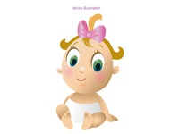Cute baby Vector illustration