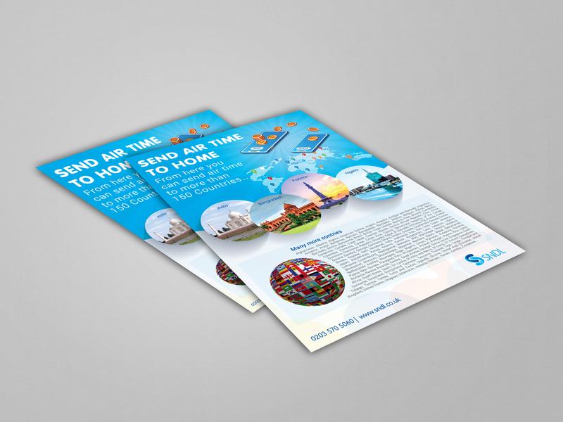 Poster design for SNDL branding flat vector illustration design