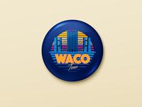 Retro Waco pin