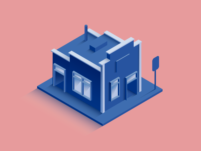 Small Store isometric design 3d store artwork digital house illustration