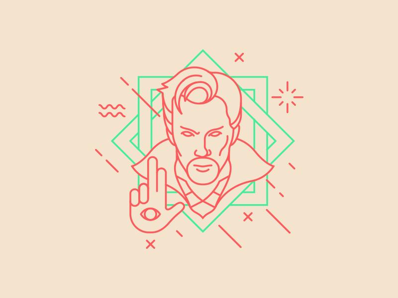 Dr Strange icon design marvel artwork digital strange illustration