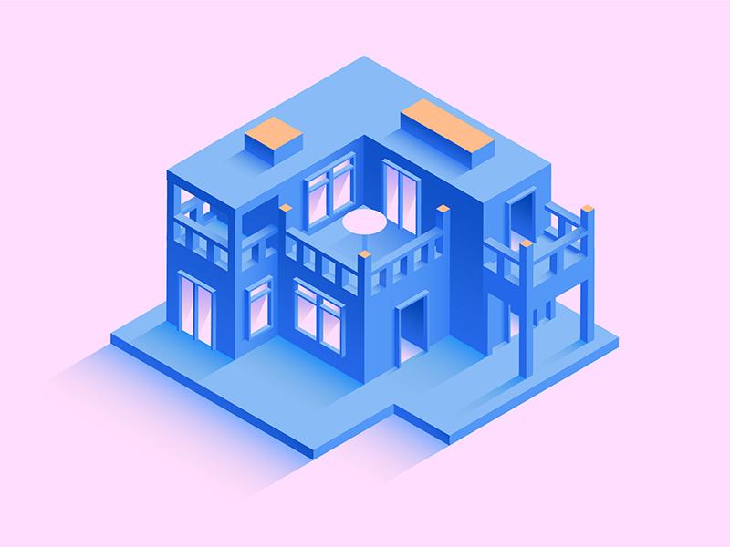 Isometric House isometric design 3d artwork digital house illustration