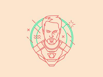Tony Stark icon marvel tony stark iron man dribbble design artwork digital illustration