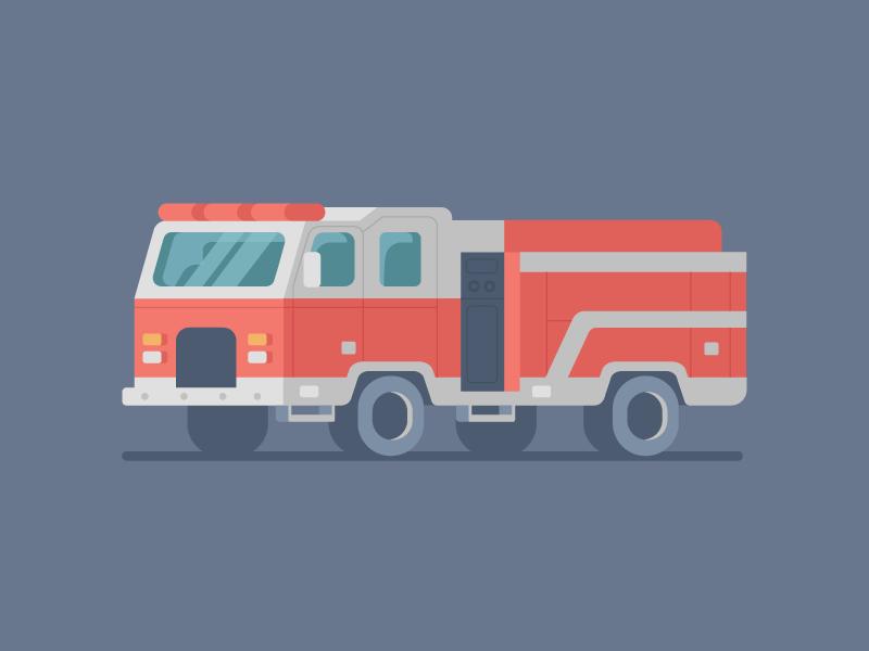 Fire Truck car truck fire dribbble design artwork digital illustration