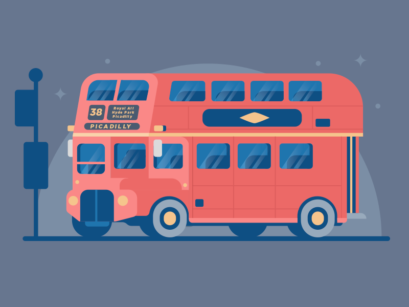 London bus dribbble 01