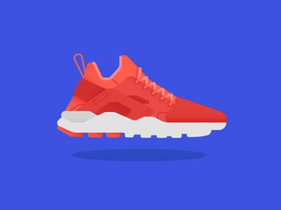 Air Huarache Ultra nike sneakers dribbble design artwork digital illustration