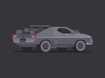 Interceptor interceptor mad max car dribbble design artwork digital illustration