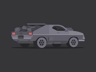 Interceptor interceptor mad max car dribbble design artwork digital illustration