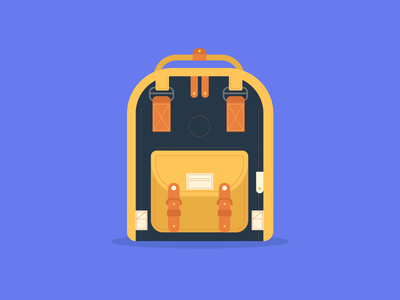 Backpack backpack dribbble design artwork digital illustration