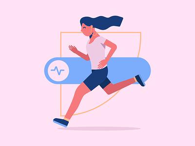 Running cardio running dribbble design artwork digital illustration