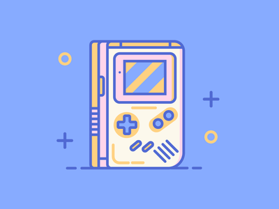 GameBoy game game boy dribbble design artwork digital illustration
