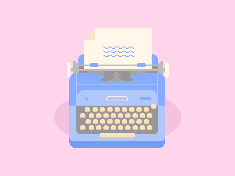 Dribbble typewriter