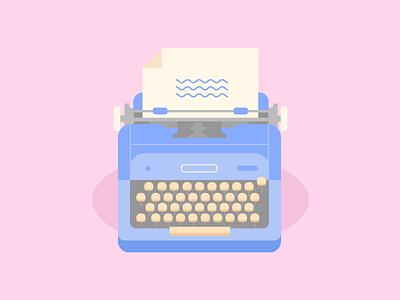 Typewriter typewriter dribbble design artwork digital illustration